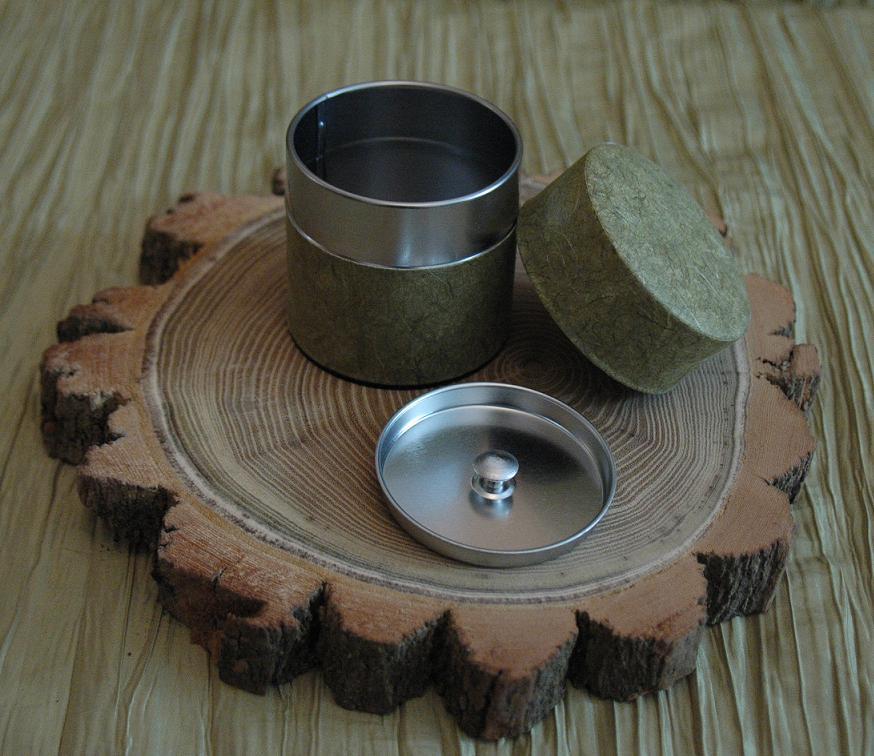 puszka do herbaty z podwójnym wieczkiem