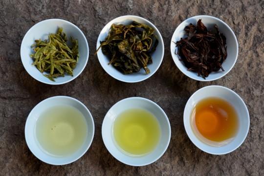 3 kolory herbaty fot. Anna Włodarczyk