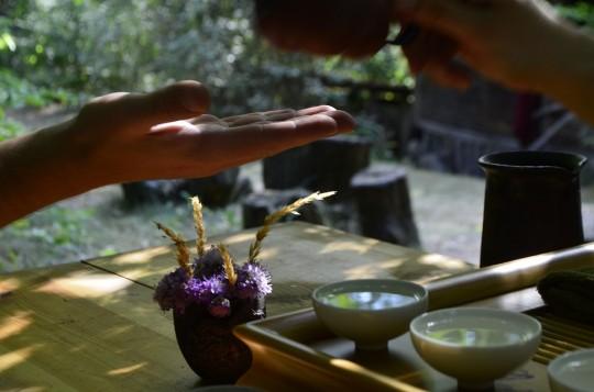 Parzenie w herbacianym zakątku pod lipą na plenerze w 2015 roku, fot. A.W.